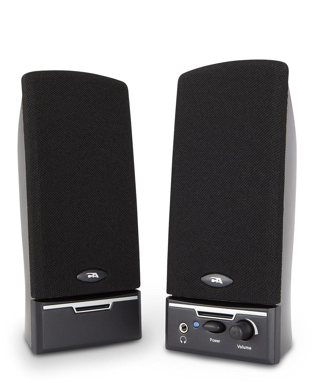 Logitech 980 000012 s120 2 piece black desktop computer speaker set - Cyber Acoustics 4 Watt 2 0 Computer Speaker System Black Amazon Ca Computers Tablets