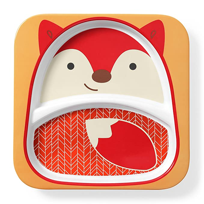 Amazon.com: Skip Hop Baby Plate: Dishwasher Safe Zoo Plate, Fox: Baby