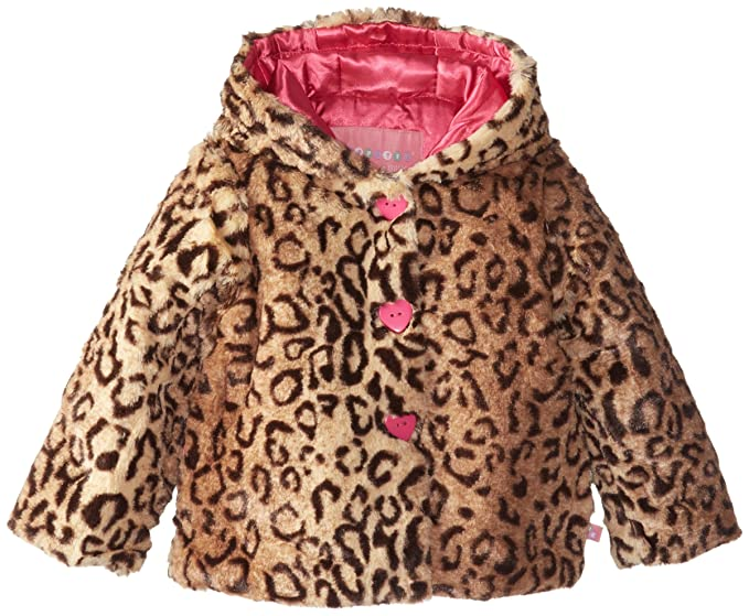 Amazon.com: Wippette Little Girls\' Toddler Animal Printed Faux Fur ...