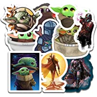 Baby Yoda Stickers (10 Pieces), Includes The Mandalorian Sticker with Yoda Baby, Lots of Choices for Your Baby Yoda Laptop or car Decal, Large Baby Yoda Decal Vinyl Sticker Pack