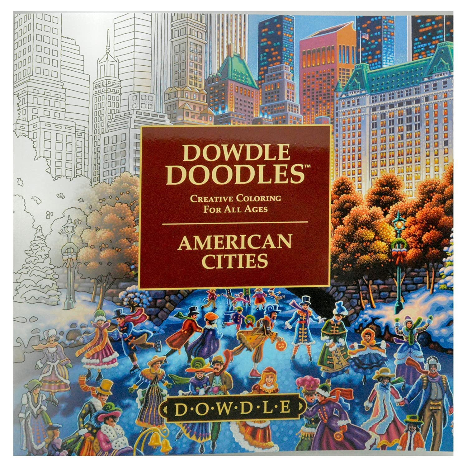 Dowdle Doodles - Adult and Family Coloring Book - American Cities by Dowdle Doodles