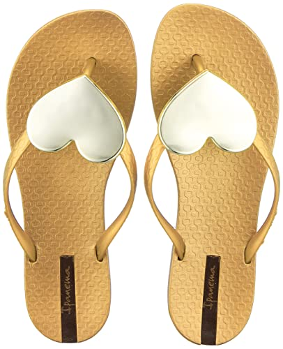 Ipanema Damen Maxi Fashion II Fem Zehentrenner, Mehrfarbig (Bronze/Gold), 38 EU