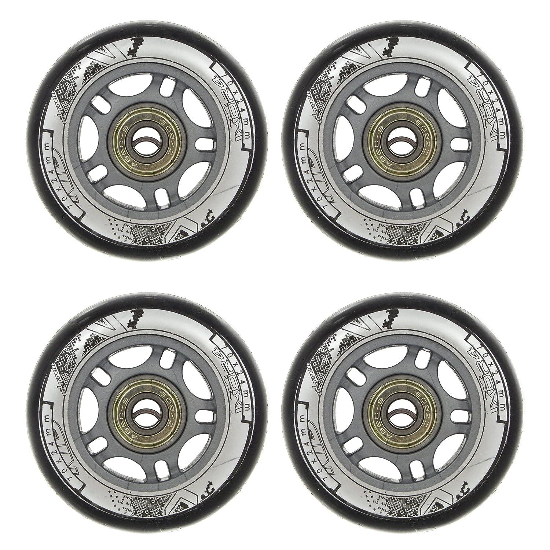 8 pieces + ABEC9 bearings Nils 82A inline skating wheels for leisure skating // 70 mm // polyurethane Nils Set of 4