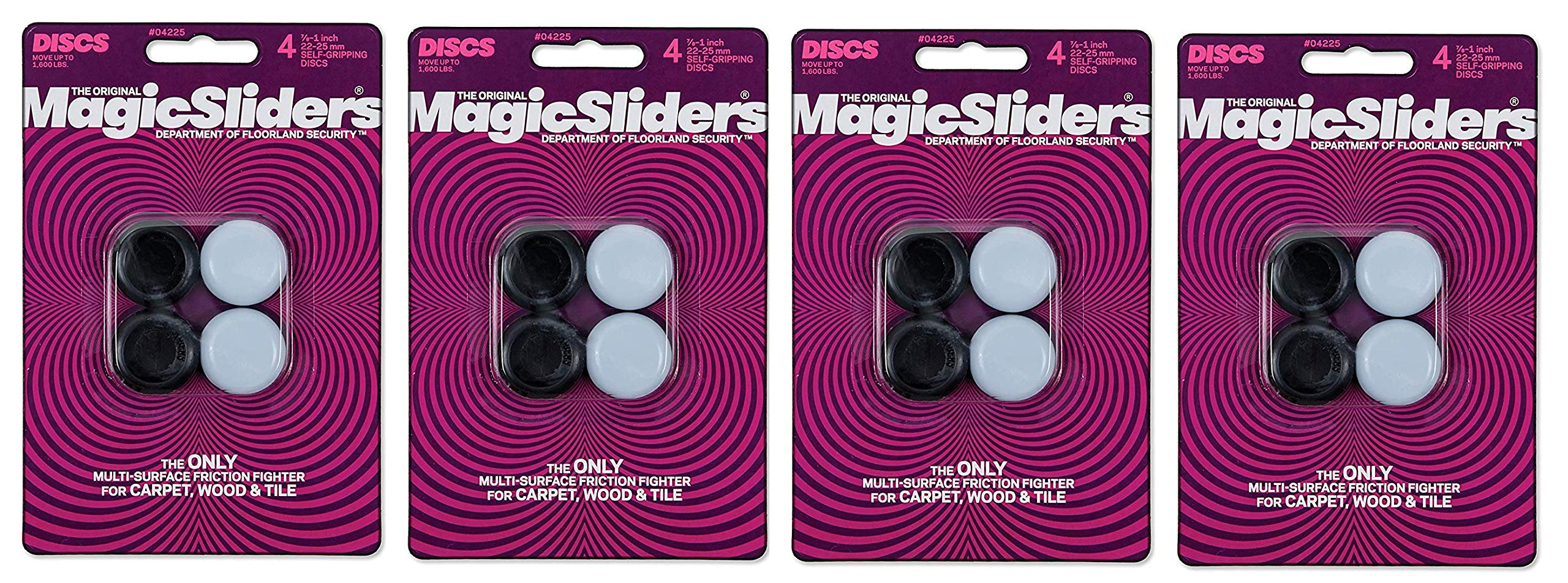 Magic Sliders L P 4225 4 Pack 7/8''-1'' RND Slider (Fоur Paсk)