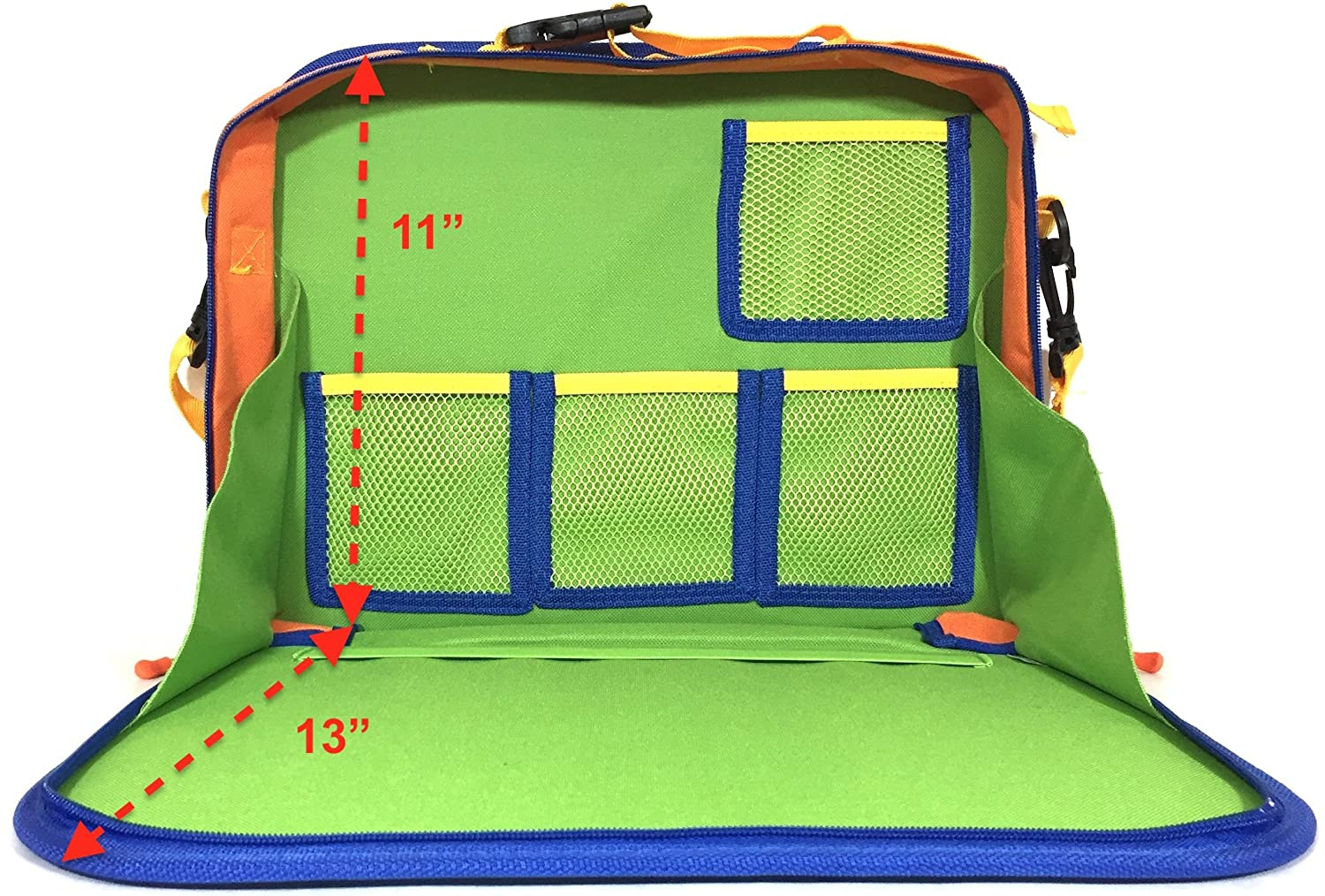My Specialty Shop K001-16 Great for Road Trips and Travel used as a Lap Tray Writing Surface or as Access to Electronics for Kids Age 3 Kids Backseat Travel Tray Organizer Holds Crayons Markers an iPad Kindle or Other Tablet