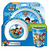 Paw Patrol Tumbler/Bowl and Plate Set, Blue