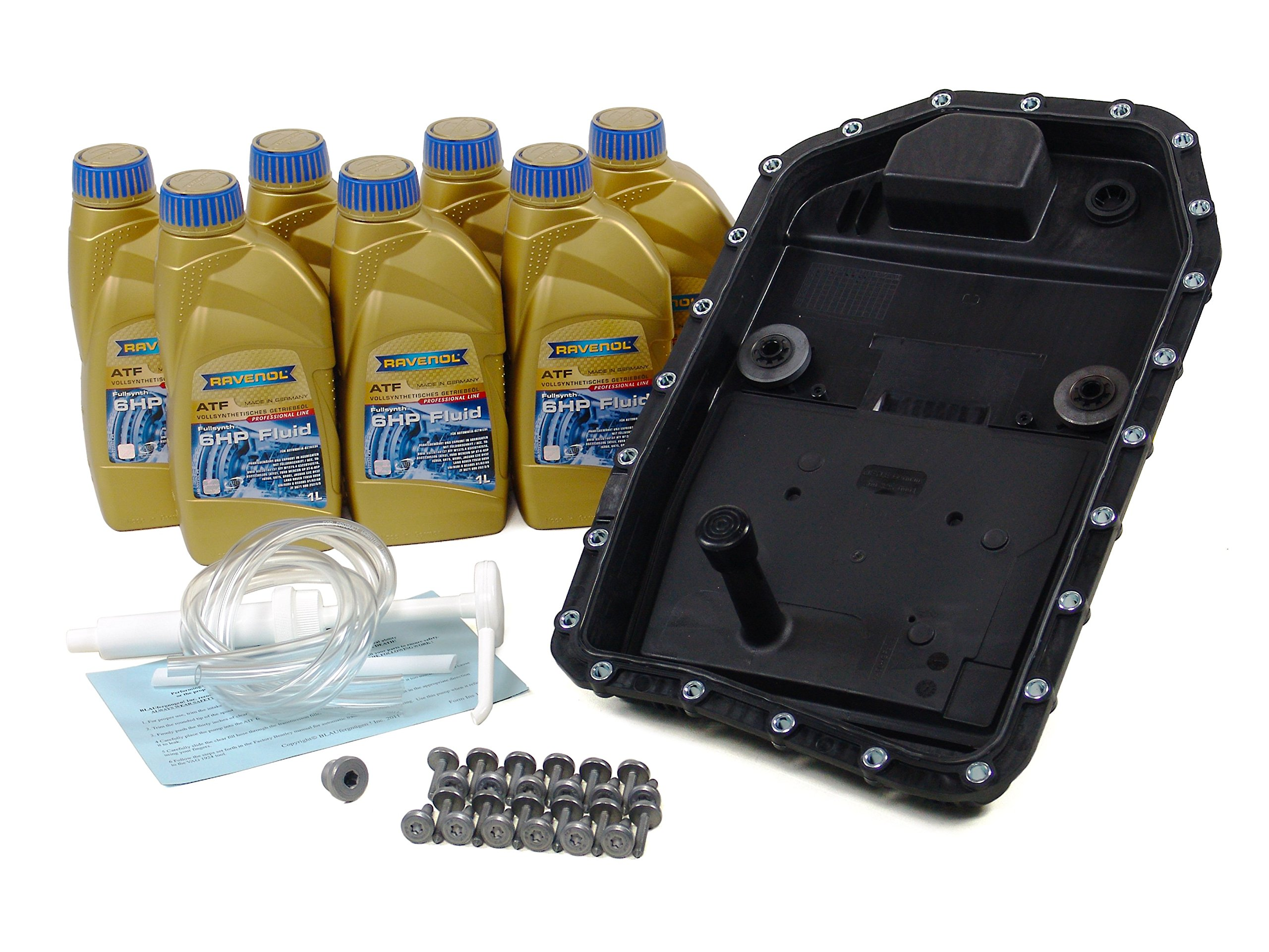BLAU F2A1305-C BMW 325i ATF Automatic Transmission Fluid Filter Kit - E90 - 2006 w/ 6 Speed Automatic GA6HP19Z