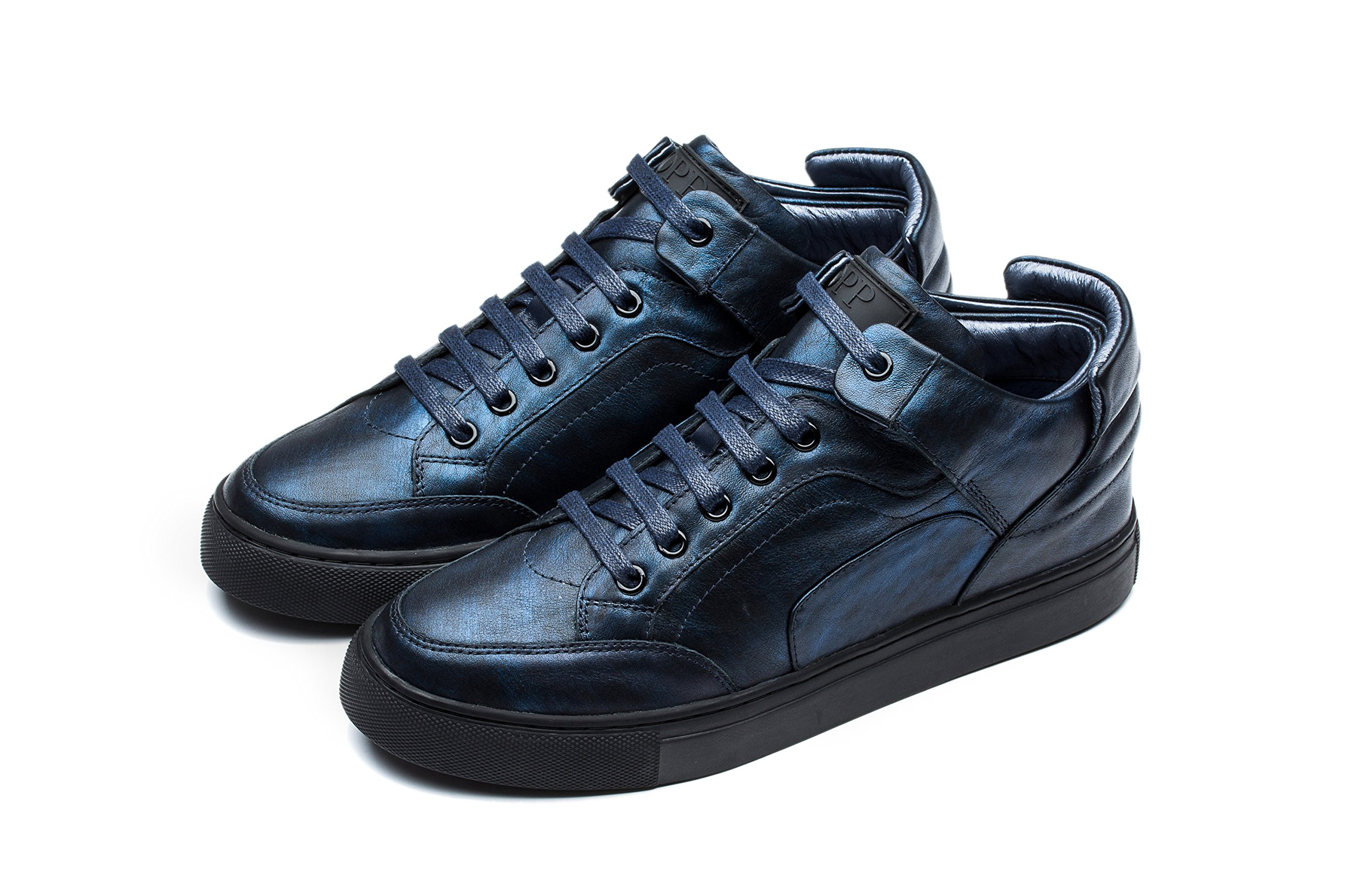 OPP Men's Casual shoes Genuine Leather High-Top 11.5 Blue