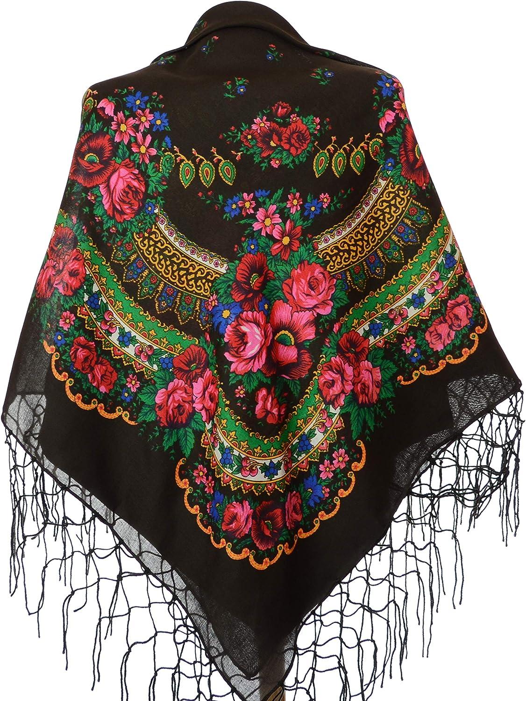 Winter Shawl Stylish Printed Stole Women/'s Fashion Russian Floral Scarf//Wrap