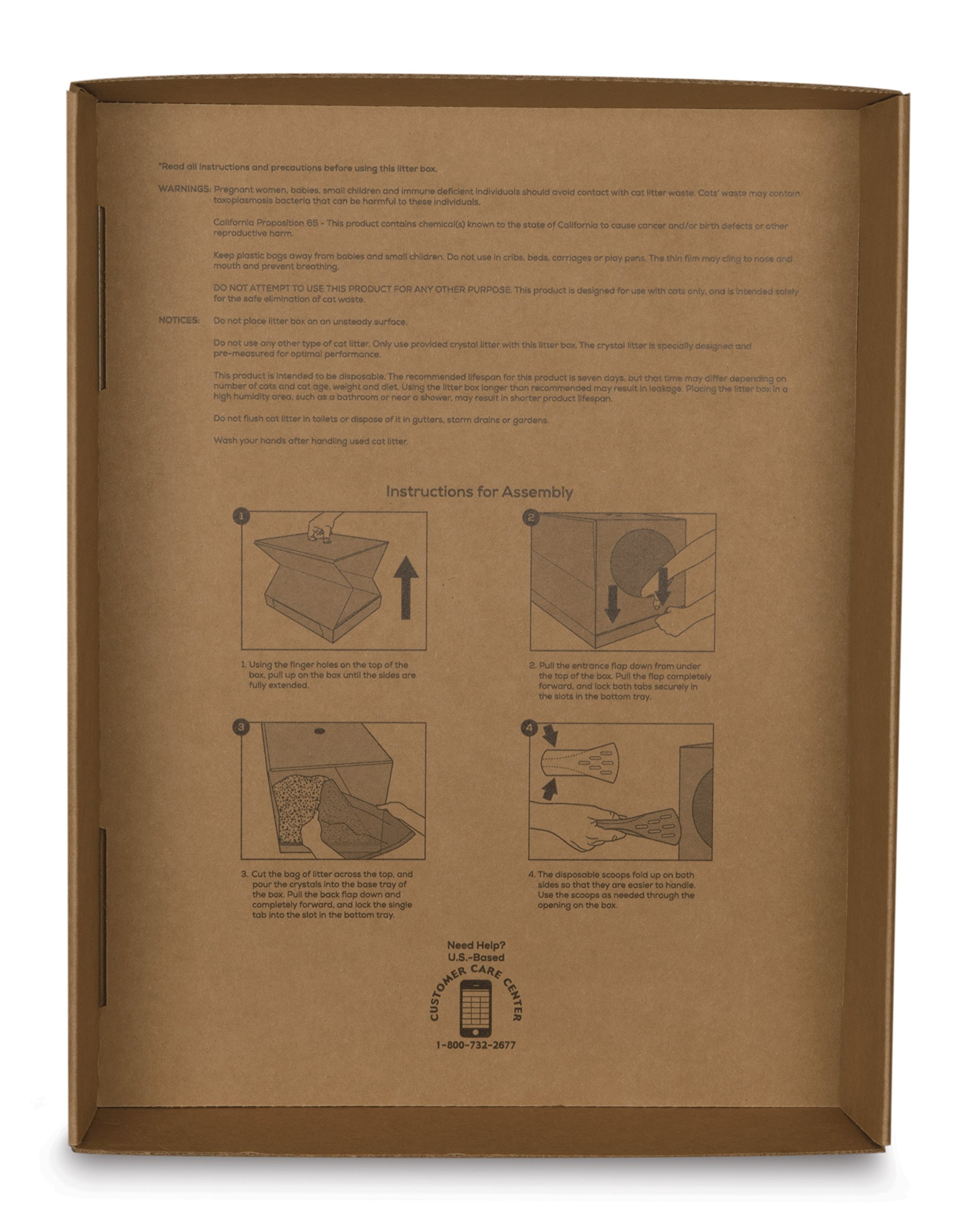 PetSafe Disposable Cat Litter Box, Collapsible Covered Design for Travel, from the Makers of ScoopFree Self Cleaning Litter Box 6