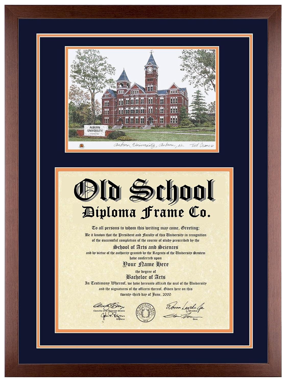 Amazon.com: AUBURN UNIVERSITY Diploma Frame with Artwork in Classic ...