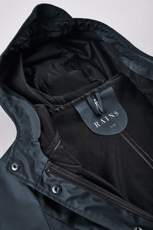 RAINS Curve Jacket Blue Impermeabile da Donna Elegante E Classico