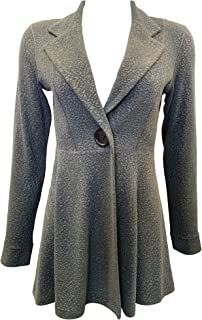 product image for Eva Varro L/SL. Empire ONE Button Jacket Lead Pebbles Lined XS-3X
