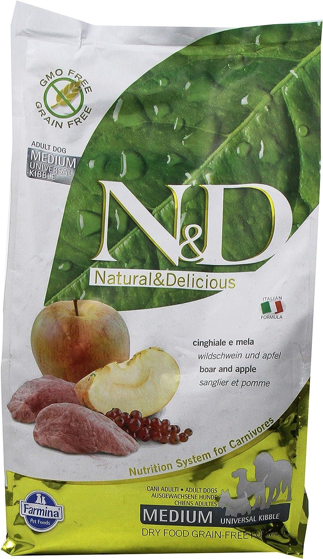 Farmina Natural And Delicious Grain-Free Formula Dry Dog Food, 5.5-Pound, Wild Boar