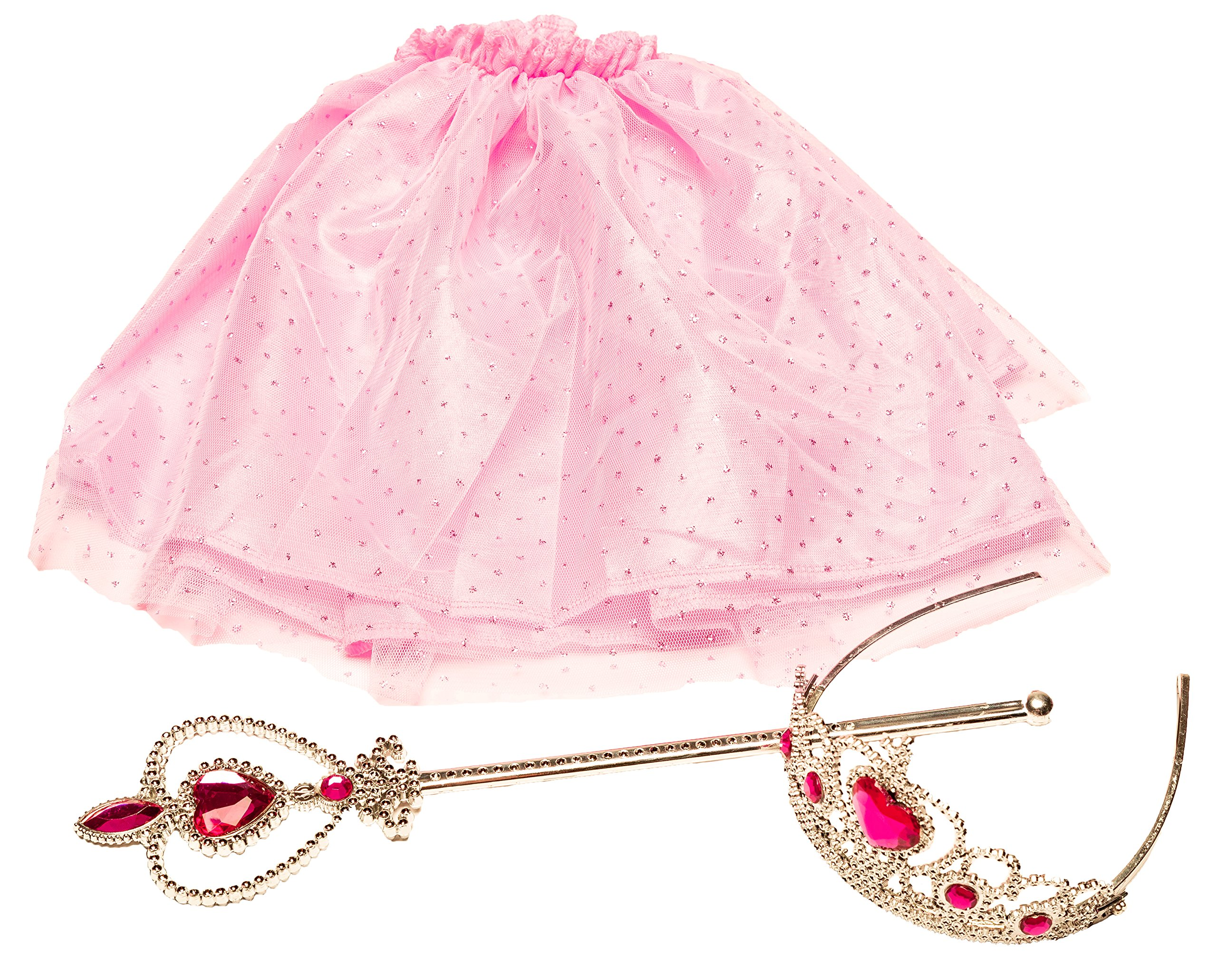 Girls Dress Up Set: Unicorn, Superhero, Angel, Mermaid, Princess - with Storage bin Pink by MMP Living (Image #6)