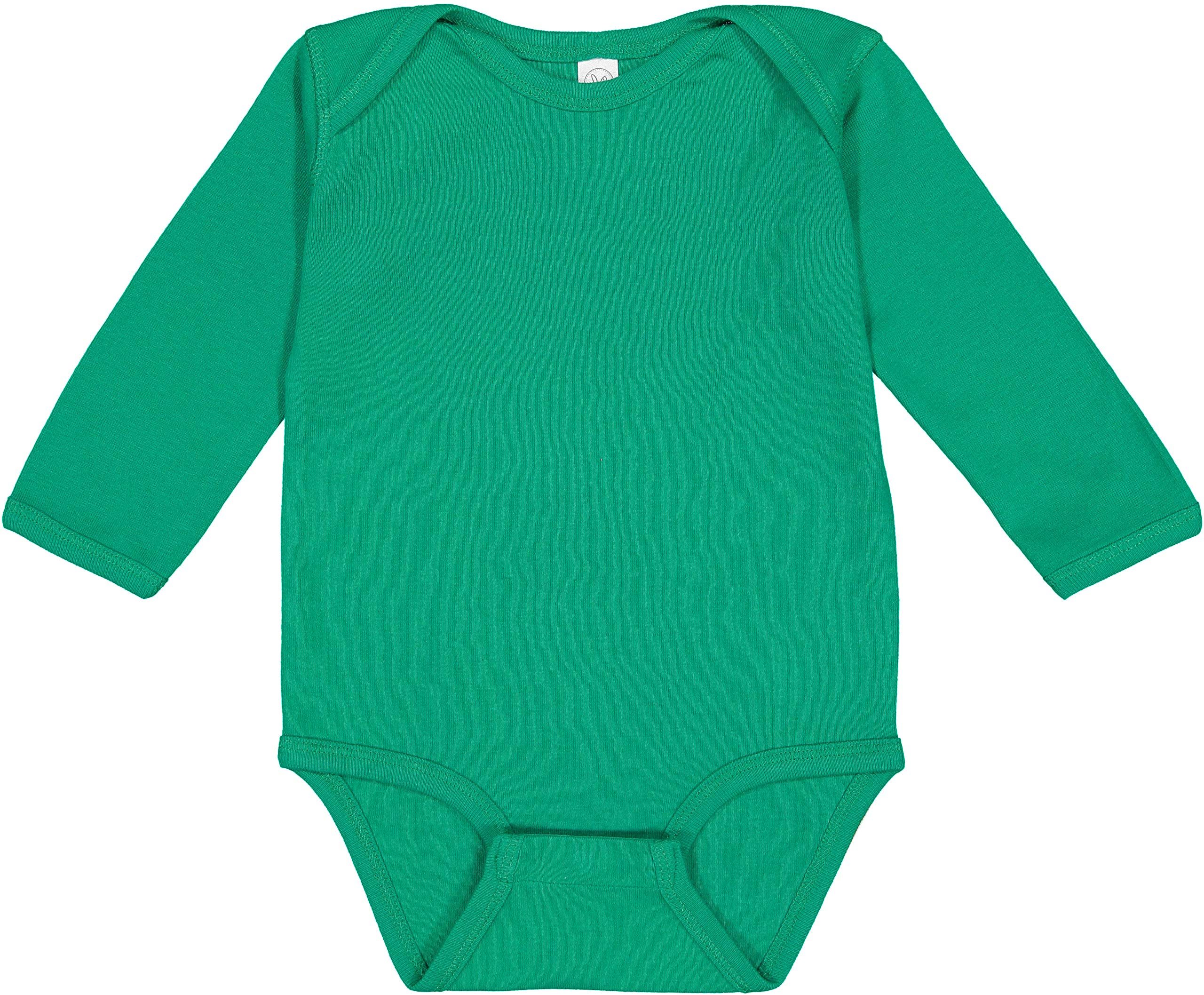 RED 6MOS Clementine Infant Long-Sleeve Baby Rib Bodysuit 4411