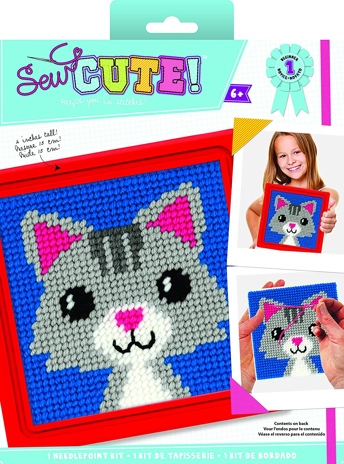 Colorbok Sew Cute Needlepoint Lola Cat 73430