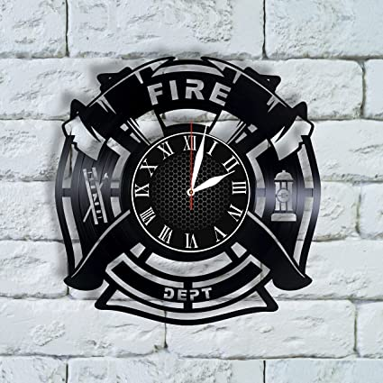 olha art design firefighter christmas gifts for men clock firefighter decorations fireman firefighter gifts for graduation