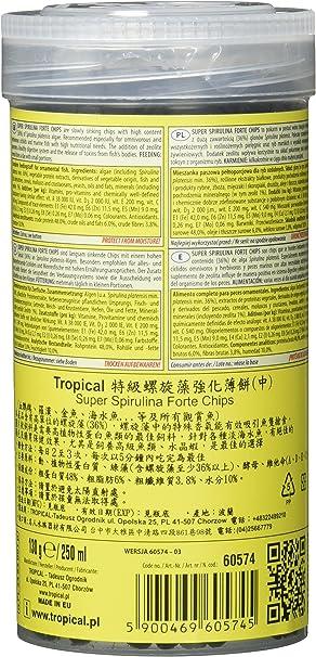 Tropical Super Spirulina Forte Chips con 36% Spirulina ...