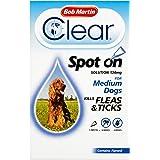 Bob Martin Flea & Tick Clear Fipronil Spot-on for Medium Dog, 1 Tube