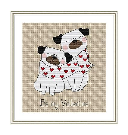 Amazon.com: Patrón de punto de cruz «Be My Valentine» para ...