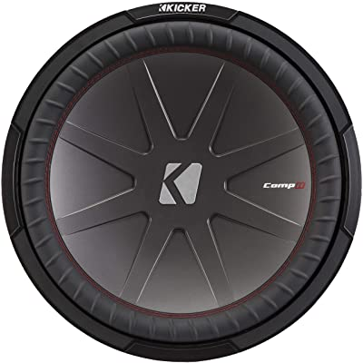 Kicker 43CWR84 CompR 8 Inch 4 Ohm 300 Watt RMS Power and 600 Watts Peak Power Dual Voice Coil Car Audio Sub Subwoofer, Black: Electronics