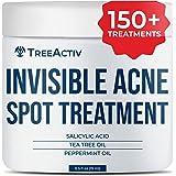 TreeActiv Invisible Acne Spot Treatment   Salicylic Acid + Tea Tree Hormonal & Cystic Acne Treatment for Face & Body   Daytim