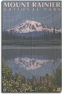 product image for Lantern Press Mount Rainier, Washington - Reflection Lake (10x15 Wood Wall Sign, Wall Decor Ready to Hang)