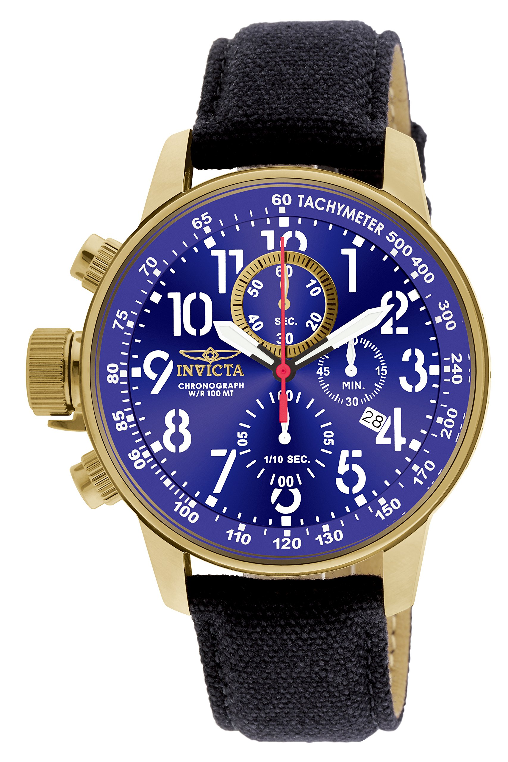 ویکالا · خرید  اصل اورجینال · خرید از آمازون · Invicta Men's 1516 I Force Collection 18k Gold Ion-Plated Stainless Steel and Cloth Watch wekala · ویکالا