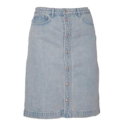 APC Femme Cocmtf06189indigo Bleu Coton Jupe