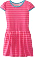 Marmellata Girls' Dress Pink Striped Knit Dress