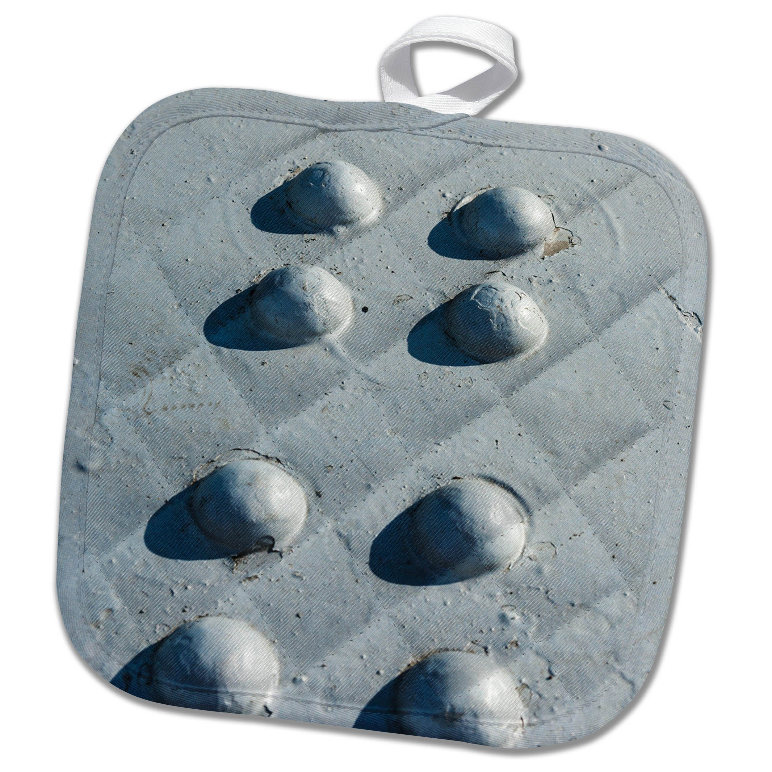 3dRose Alexis Photography - Texture Metal - Sunlit metal texture with eight rivets painted gray - 8x8 Potholder (phl_271988_1)