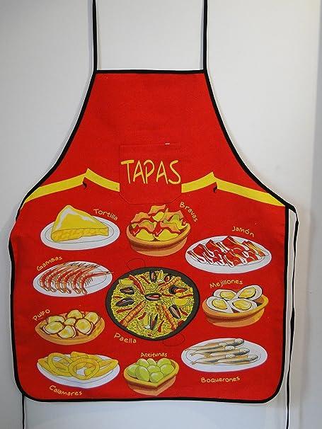 Lote de 2-Delantal de cocina, diseño de la bandera de España Plato ...