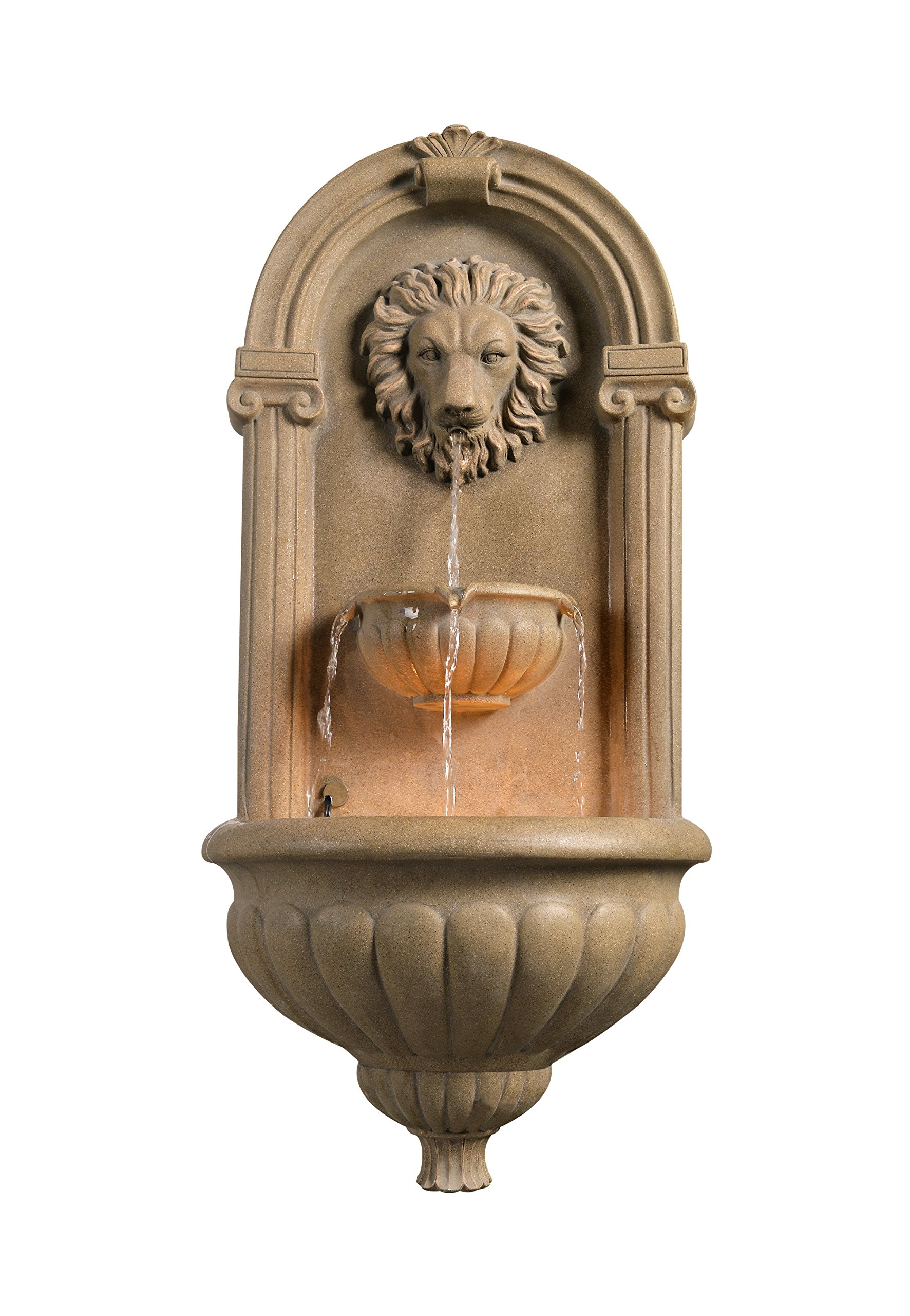 Kenroy Home 50026SS Regal Wall Fountain, Sandstone Finish