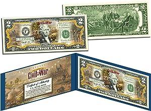 BATTLE OF ANTIETAM American CIVIL WAR Collectible Art Two-Dollar Bill with Certificate