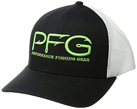 de2f70815 Columbia Men's PFG Mesh Snap Back Ball Cap, Sun Protection, Black/Hook,