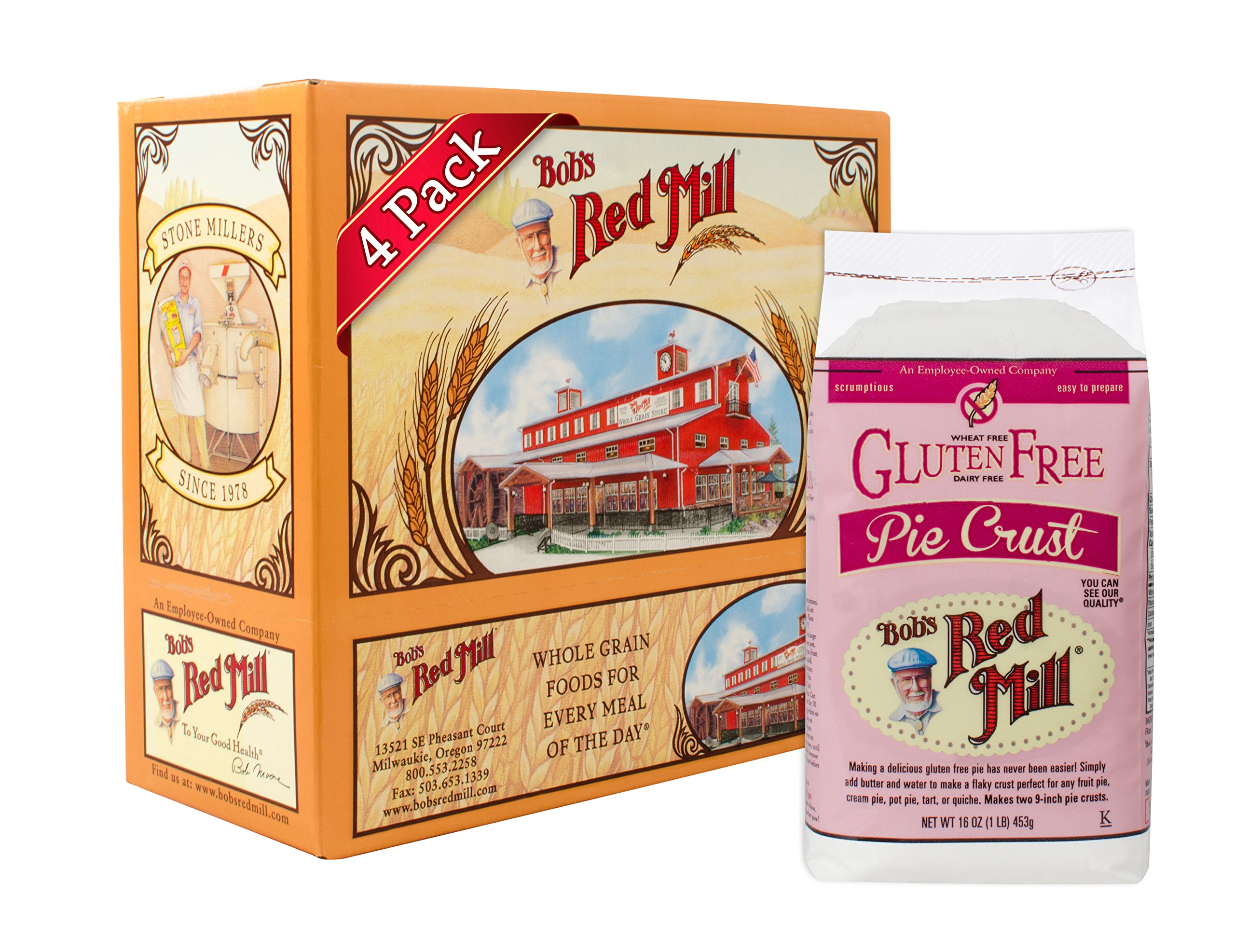 Bob's Red Mill Gluten Free Pie Crust Mix, 16 Ounce (Pack of 4) by Bob's Red Mill