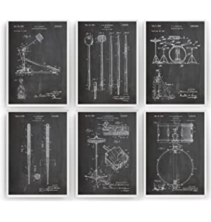 Ludwig Drums Set of 2 Patent Prints Drummer Decor Vintage Poster Wall Art Gift