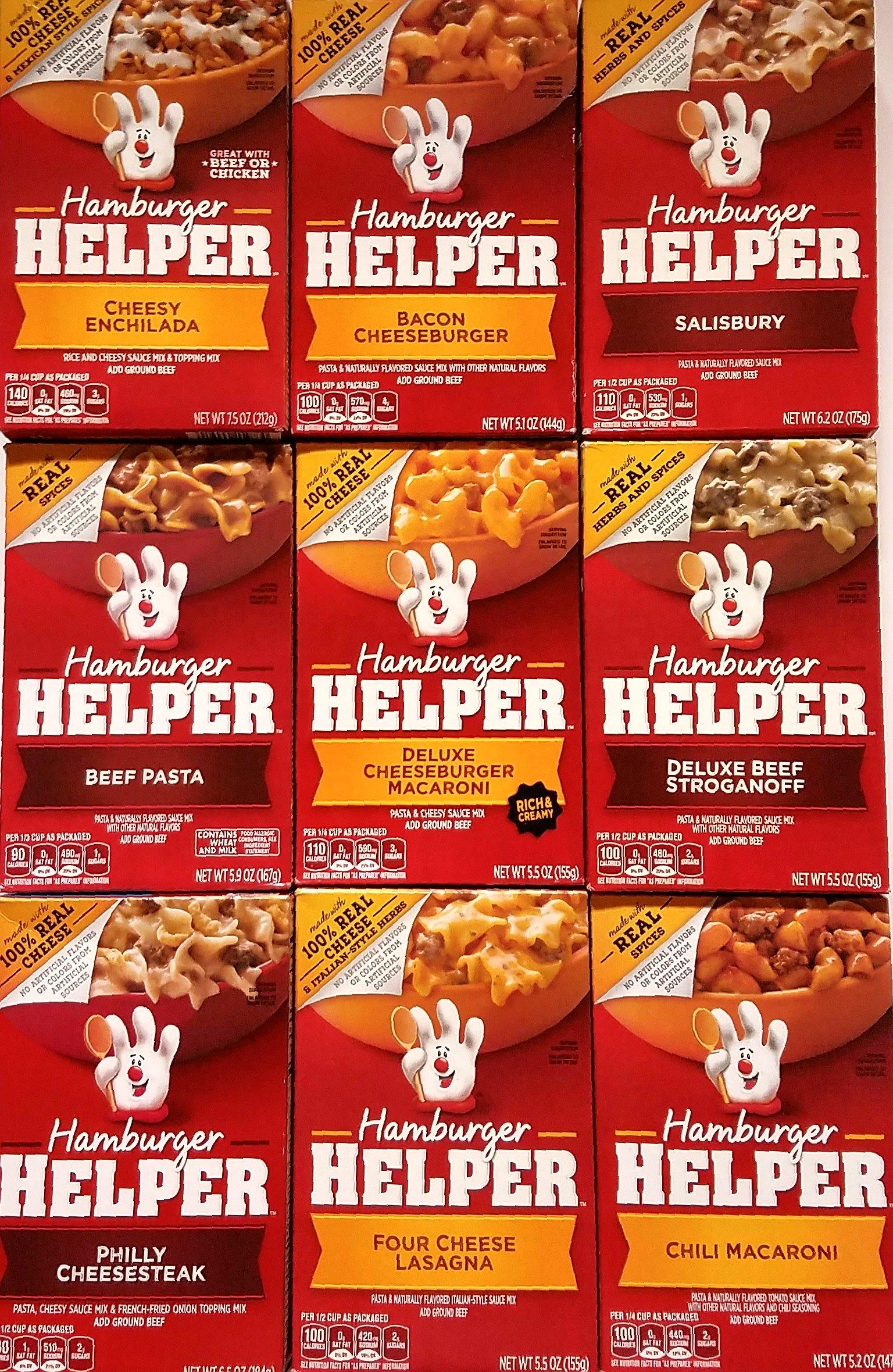 Amazon Hamburger Helper Cheeseburger Macaroni 58 Oz 12 Pack