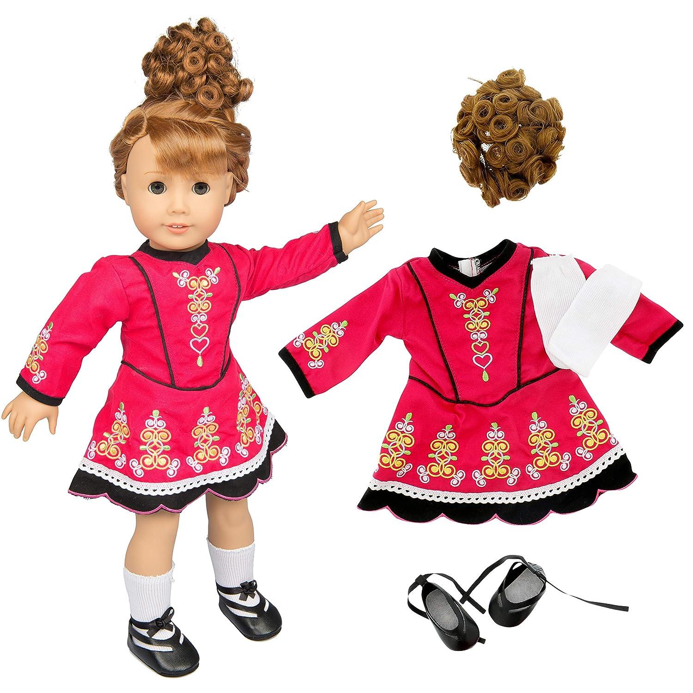 Amazon.com: Irlandés paso baile ropa de muñeca para 18 ...
