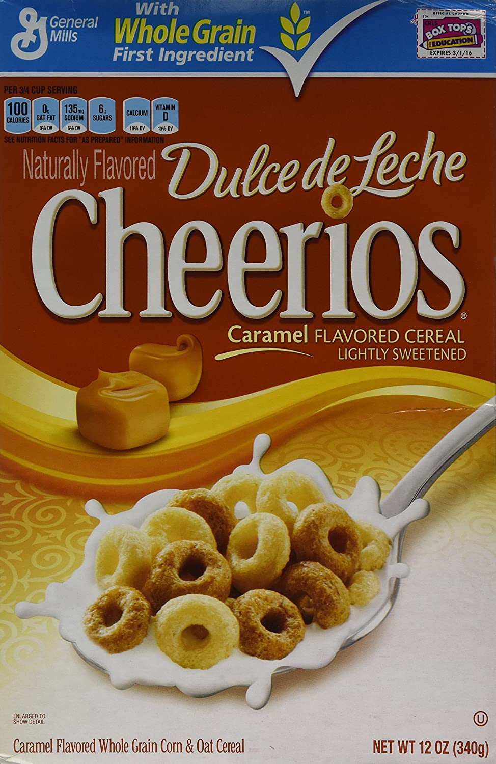 Amazon.com: Dulce De Leche Cheerios Cereal, 12 Ounce (Pack of 4): Breakfast Cereals