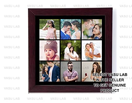 Buy 12in X 12in PERSONALIZED PHOTO COLLAGE FRAME BLACK BG COLLAGE ...