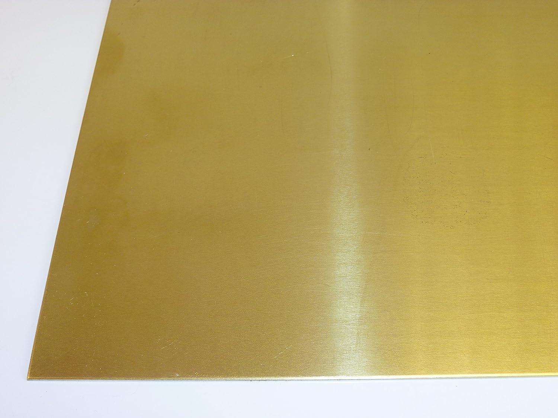 Laiton Tôle 2,0mm CuZn37 Plaque de Laiton Plaque en Laiton Plaque Messing-Blech