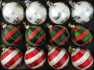 My Goodbuy24 12 Teiliges Set Luxus Weihnachtskugeln Echtglas