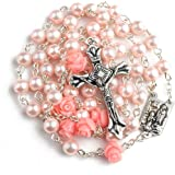 Hedi Pink Color Holy Rosary with Lourdes Medal