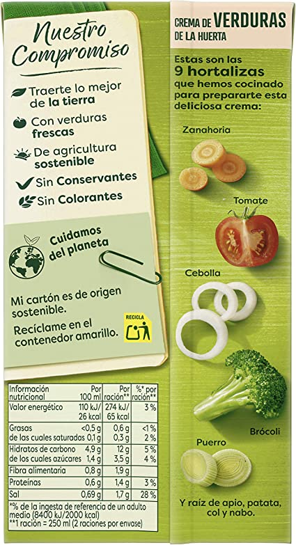 Knorr Ligeresa Crema de Verduras de la Huerta - 500 ml