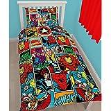 Marvel Comics Strike Rotary housse de couette imprimé, Polyester, multicolore, simple