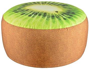 Fallen Fruits Pouf per Esterni, da Giardino, Motivo: Kiwi: Amazon.it ...