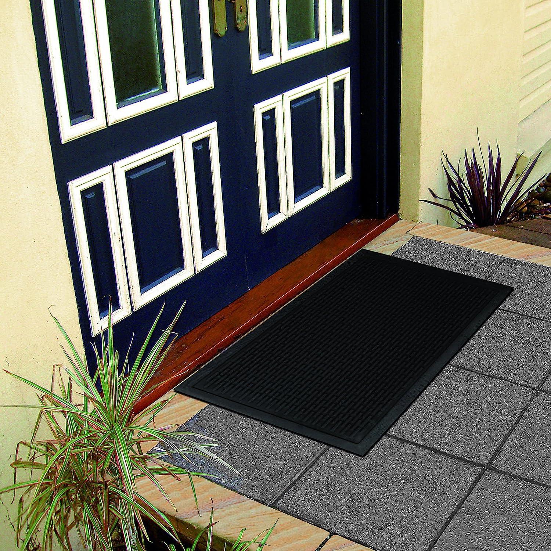 Ottomanson Rdm Doormat 18 X 30 Charcoal Rubber Furniture Decor Amazon Com