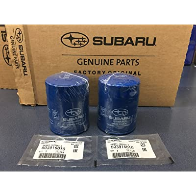 2011-2020 Genuine OEM Subaru Engine Oil Filter & Crush Gasket 15208AA15A 803916010 Geniuine Impreza Legacy Forester 2 PACK: Automotive